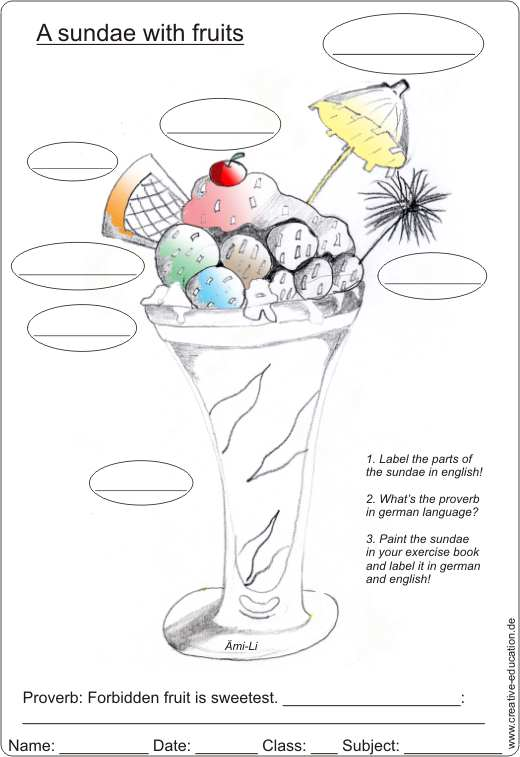 Conversation in an ice cream parlour