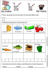 Buchstabe K kreativ Deutsch lernen