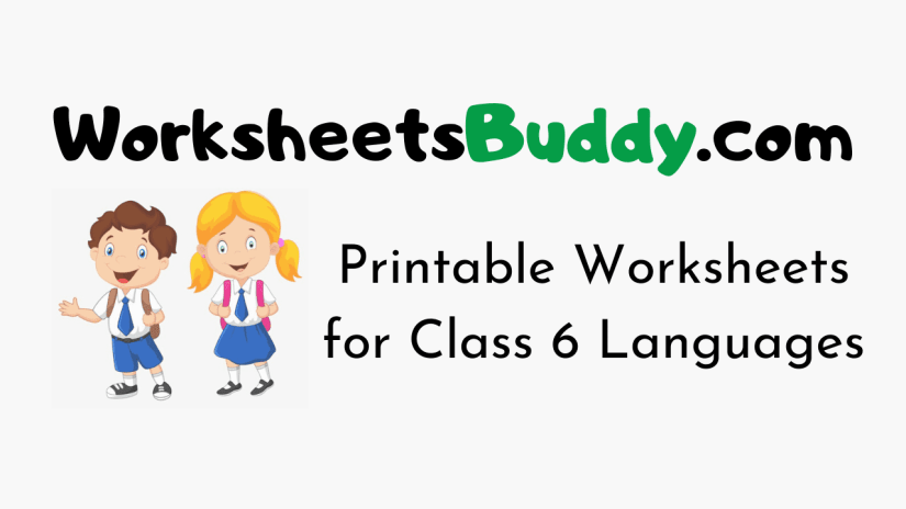 CBSE Worksheets for Class 6 Languages