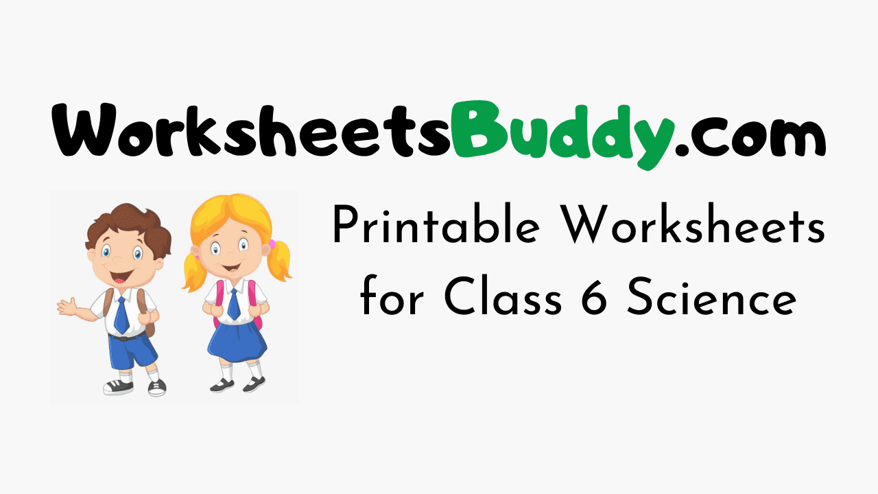 CBSE Worksheets for Class 6 Science