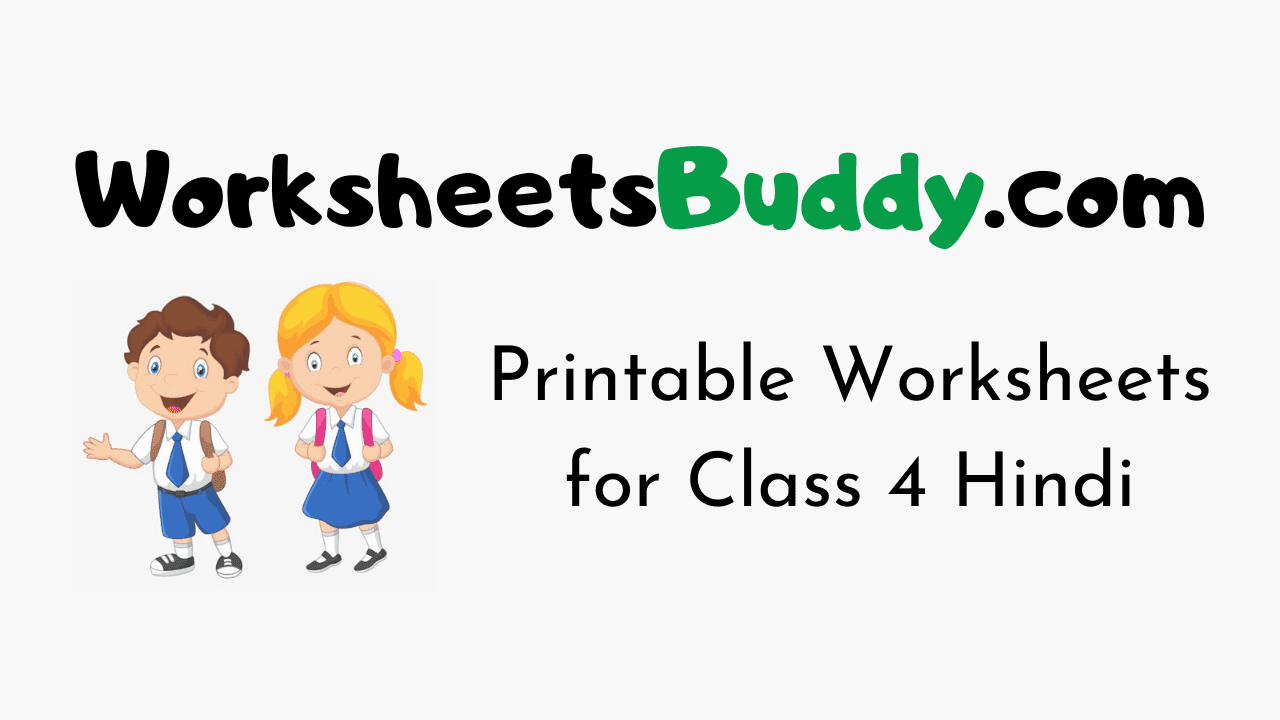 medium resolution of Worksheets for Class 4 Hindi Archives - WorkSheets Buddy