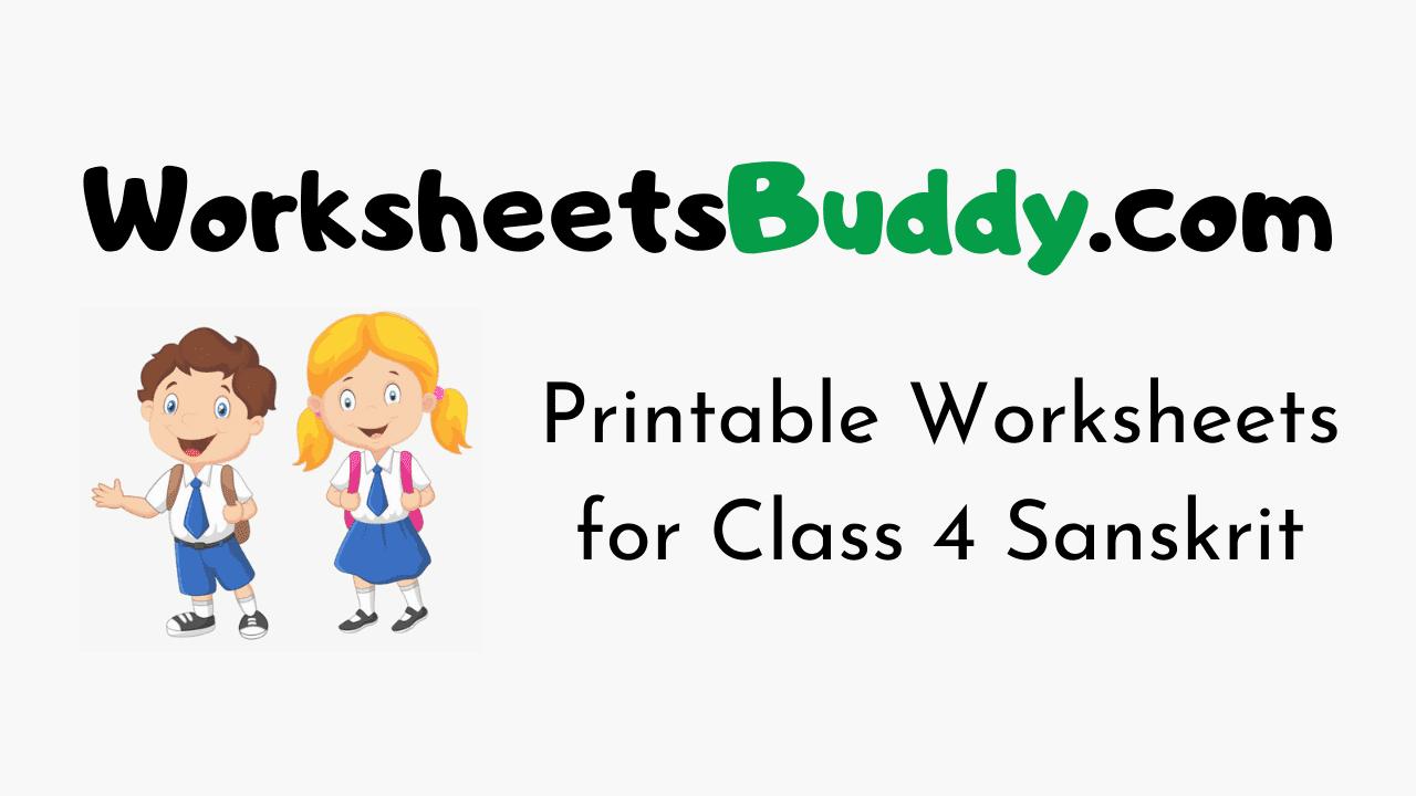 Worksheets for Class 4 Sanskrit