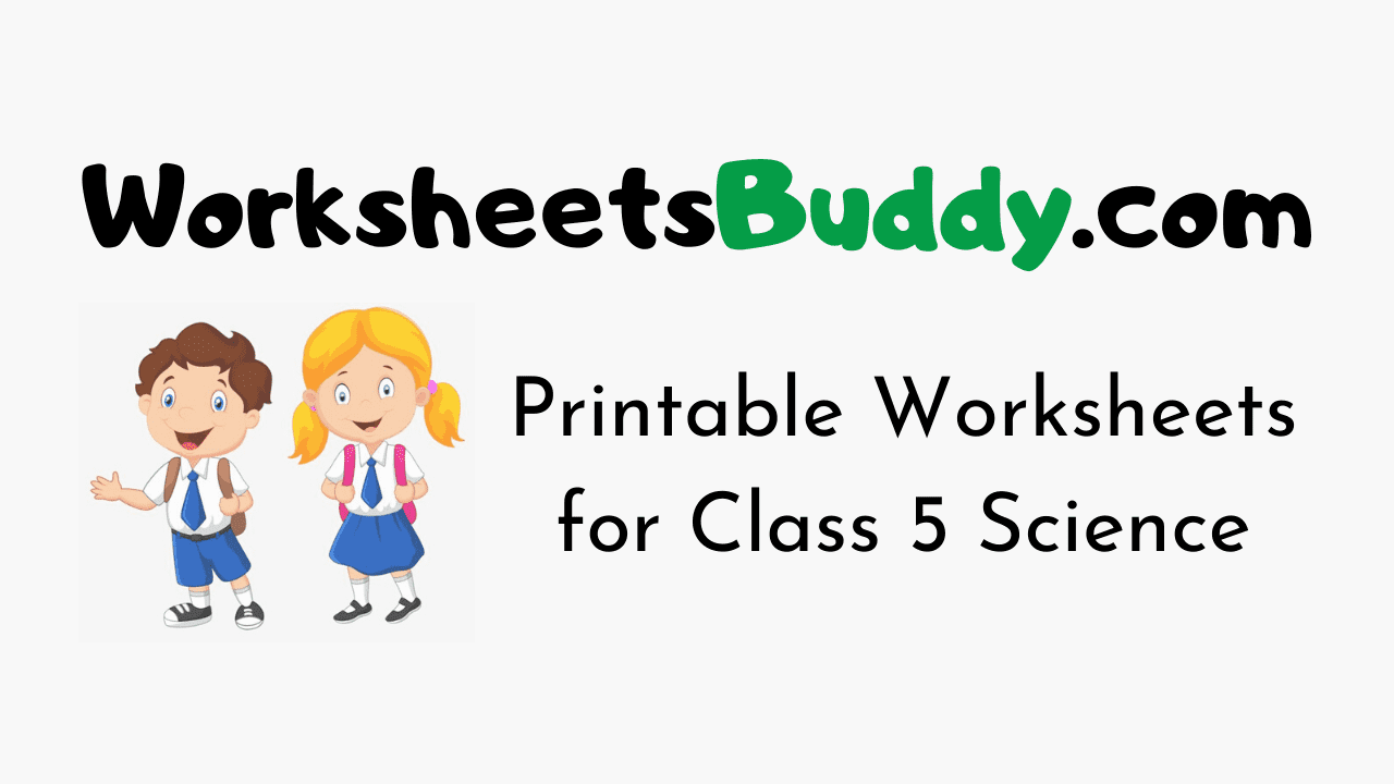 Worksheets for Class 5 Science