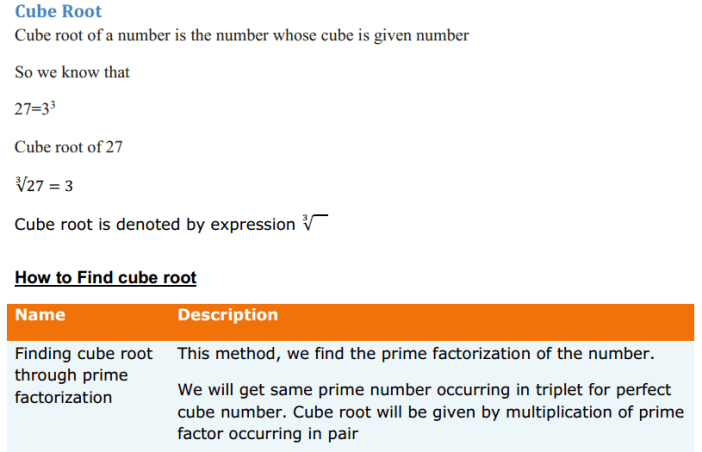 Cubes and Cube Roots Formulas for Class 8 Q3