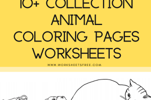 10+ Collection Animal Coloring Pages Worksheets