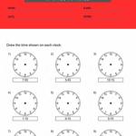 1st grade clock worksheets 2