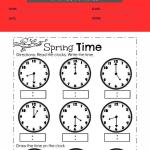 1st grade clock worksheets 3