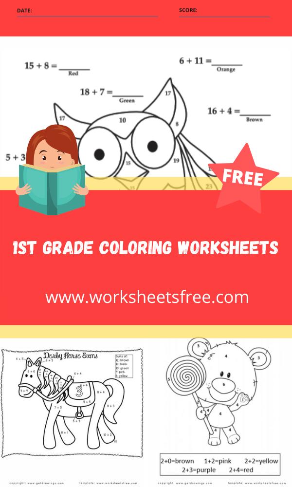 1st grade coloring worksheets