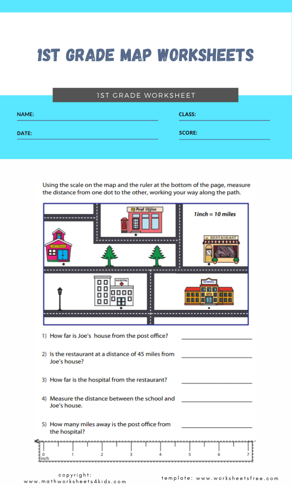 1st grade map worksheets 3