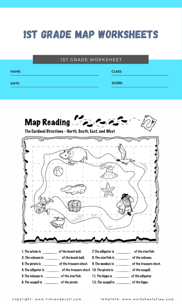 1st grade map worksheets 5