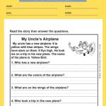 1st grade reading comprehension worksheets 2