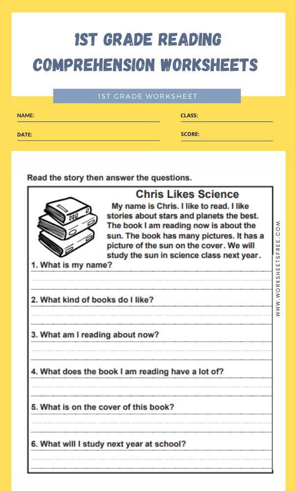 1st grade reading comprehension worksheets 7
