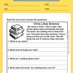 1st grade reading comprehension worksheets 7