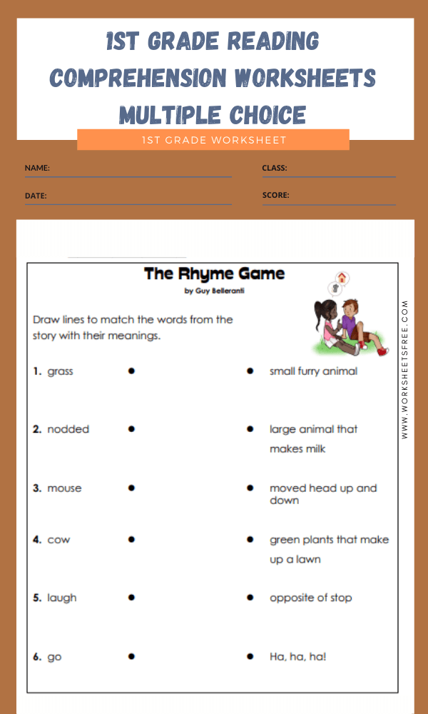 1st grade reading comprehension worksheets multiple choice 3