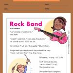 1st grade reading comprehension worksheets multiple choice 5