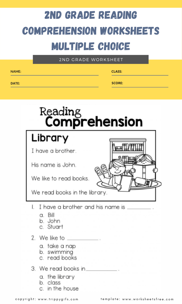2nd grade reading comprehension worksheets multiple choice 3