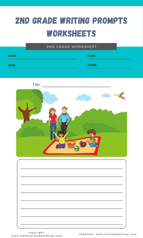 2nd grade writing prompts worksheets 2