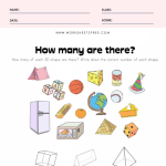 3D Shape Recognition Worksheet