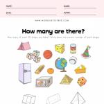 3D Shape Recognition Worksheet