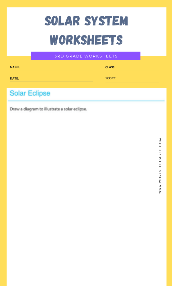 3rd Grade Solar System Worksheets 12
