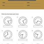 3rd grade clock worksheets 3