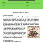 3rd grade comprehension worksheets 3