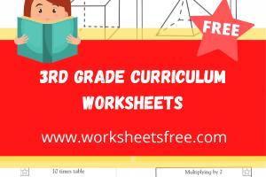 3rd grade curriculum worksheets