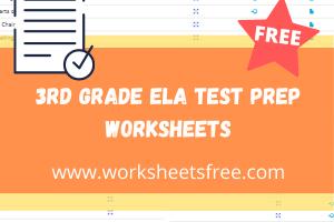 3rd grade ela test prep worksheets
