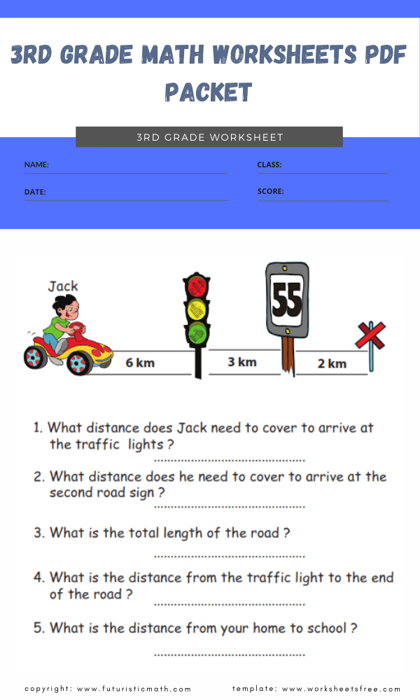 3rd grade math worksheets pdf packet 3