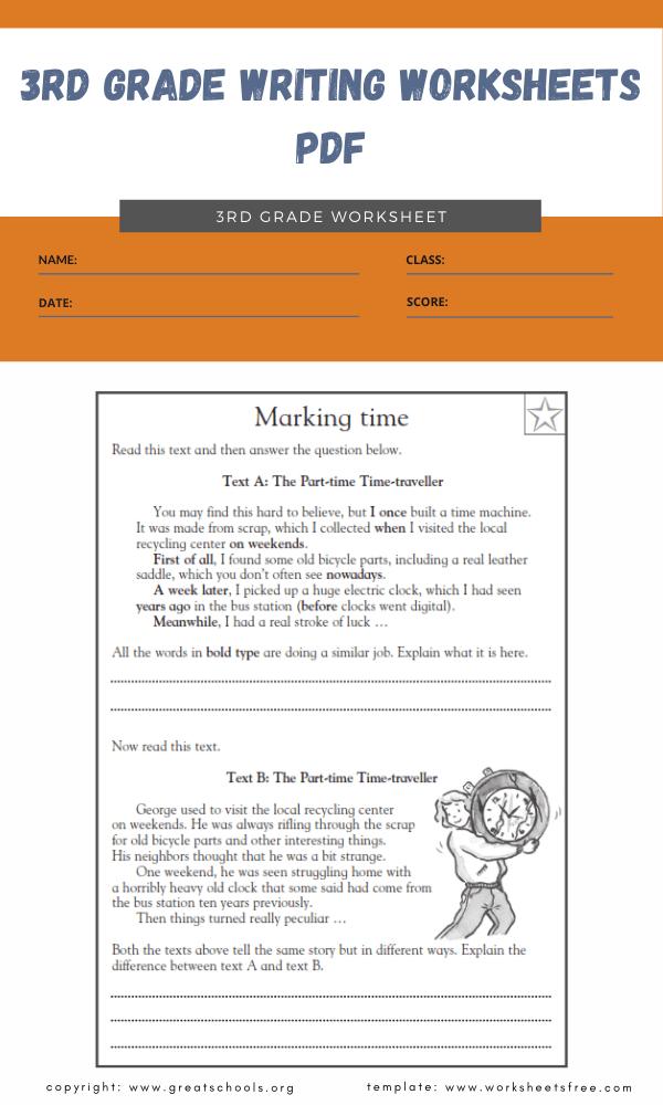 3rd grade writing worksheets pdf 4