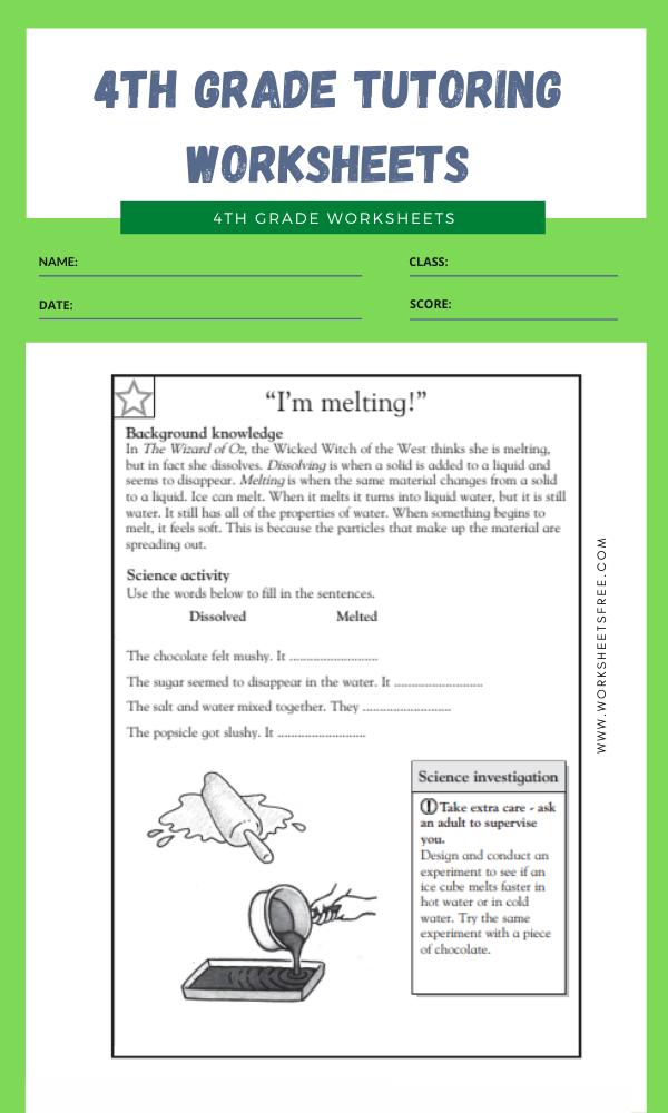 4th Grade Tutoring Worksheets 9