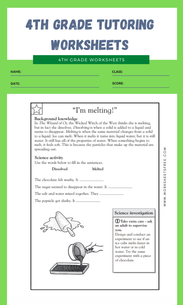 4th Grade Tutoring Worksheets 9