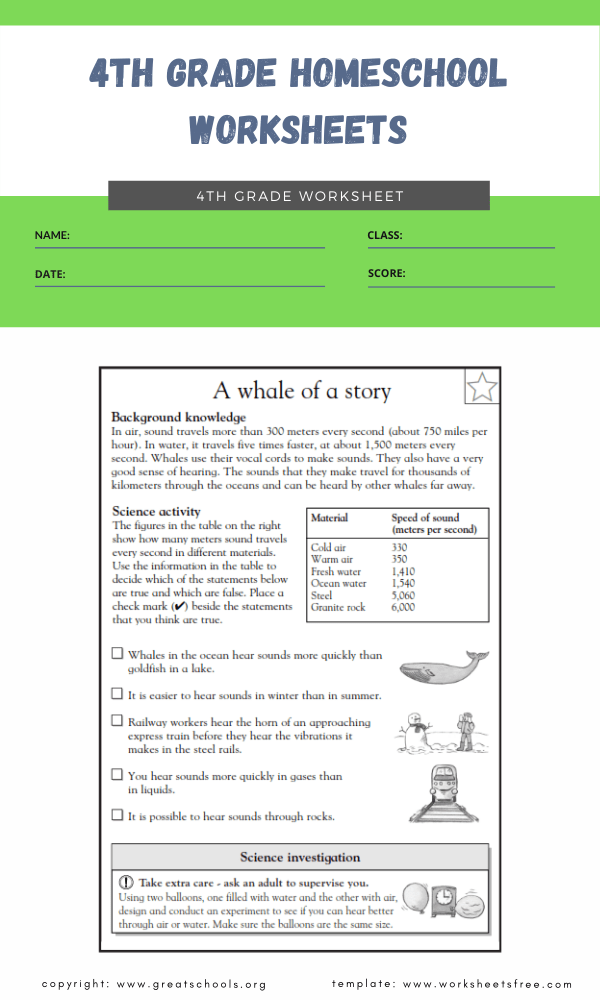 4th grade homeschool worksheets 2