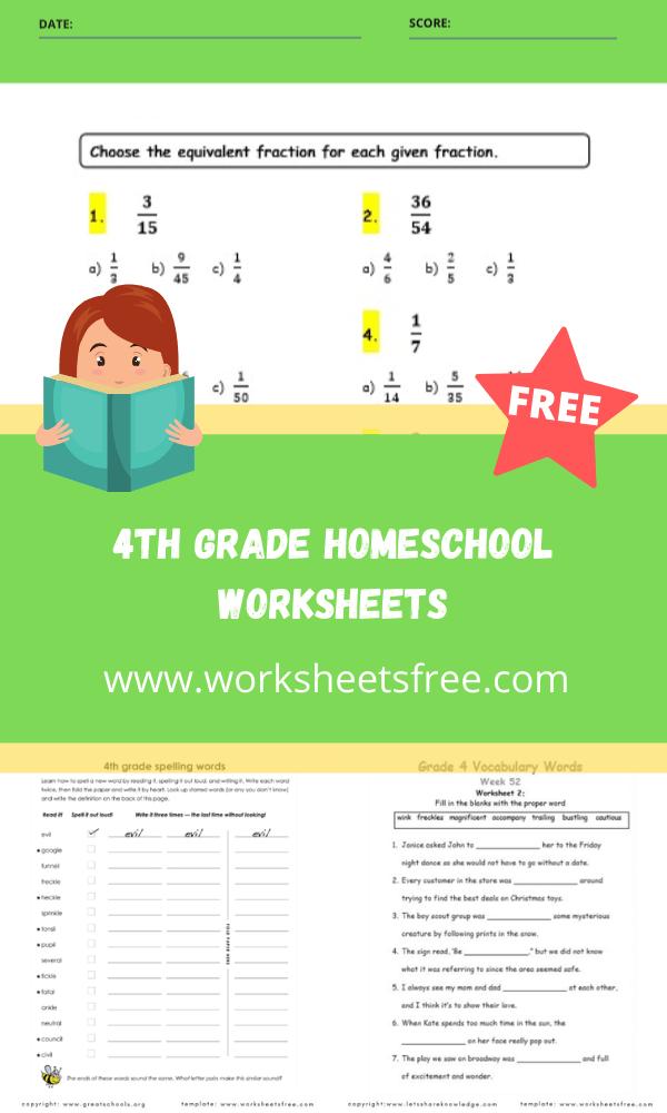 4th grade homeschool worksheets