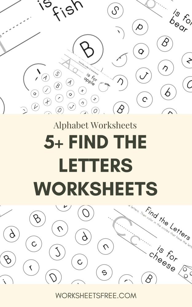 Find the Letters Worksheets