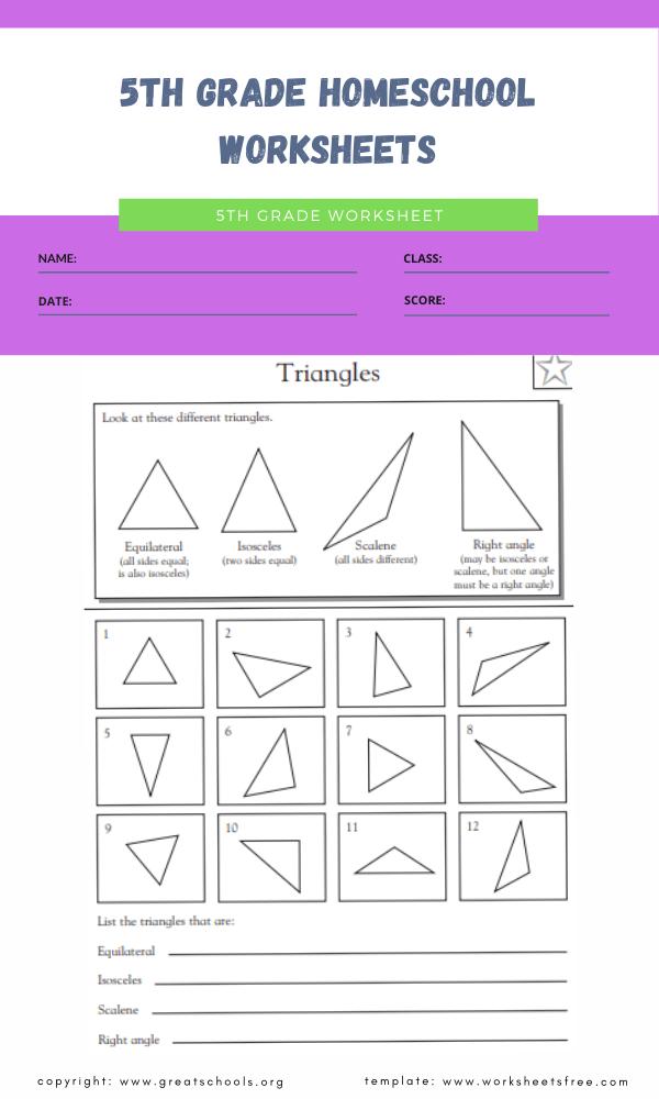 5th grade homeschool worksheets 1