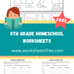 5th grade homeschool worksheets