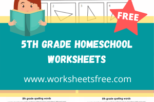 5th grade homeschool worksheets