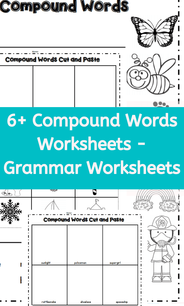 6+ Compound Words Worksheets - Grammar Worksheets