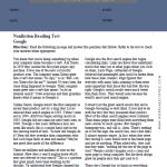 6th Grade Reading Comprehension Worksheets 4