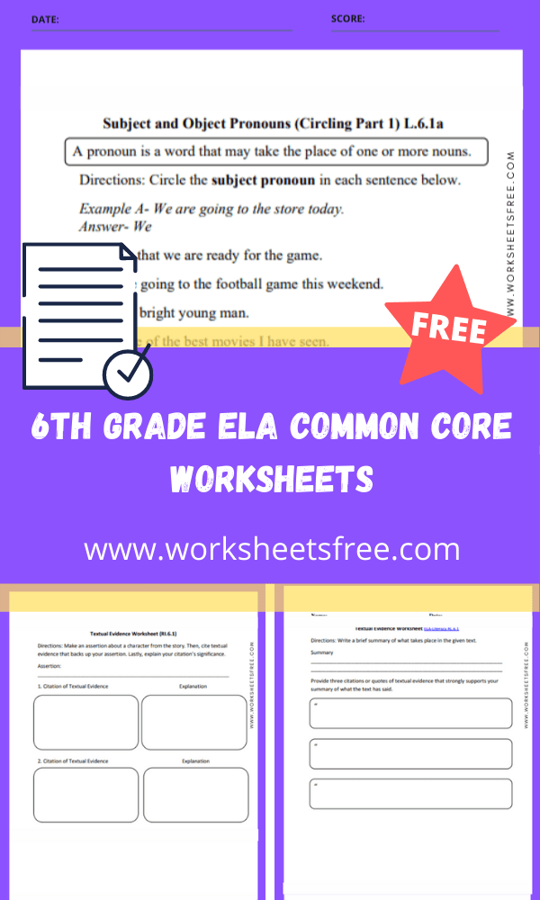 6th grade ela common core worksheets