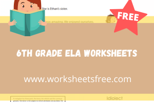 6th grade ela worksheets