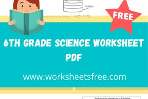 6th grade science worksheet pdf
