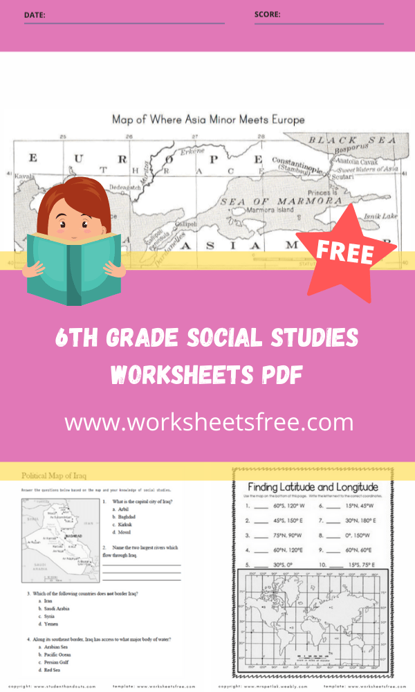 6th grade social studies worksheets pdf