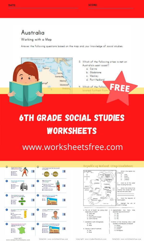 6th grade social studies worksheets