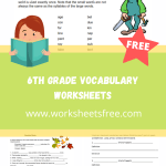 6th grade vocabulary worksheets6th grade vocabulary worksheets