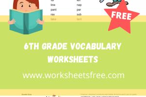 6th grade vocabulary worksheets6th grade vocabulary worksheets
