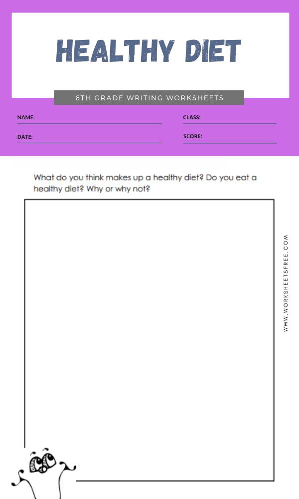 6th grade writing worksheets 6