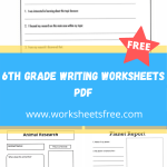 6th grade writing worksheets pdf