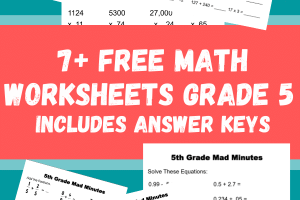 7+ Free Math Worksheets Grade 5 includes answer keys